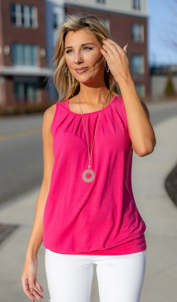 All or Nothing Tank, Spring Blue or Hot Pink