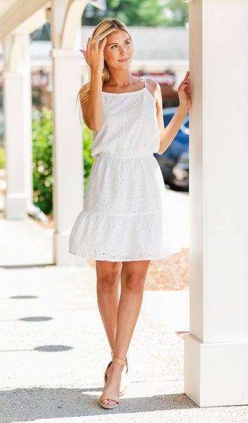 Summer Fling Sundress, White