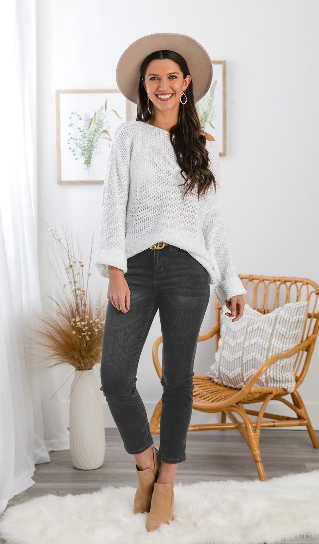 The Flora High Rise Straight Leg Jean, Dark Wash