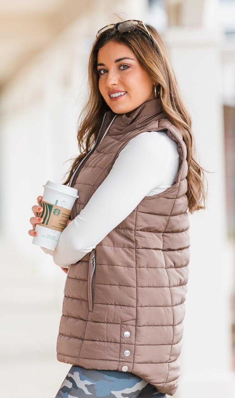 Keep you Cozy Vest, Mocha or Navy