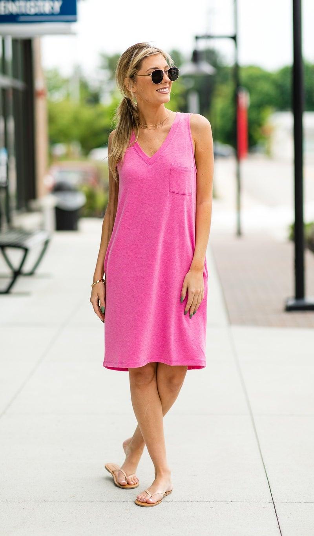 Season's Fave Dress, Fuchsia