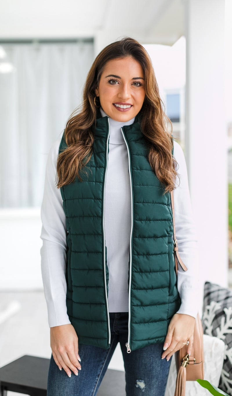 Keep you Cozy Vest, Green