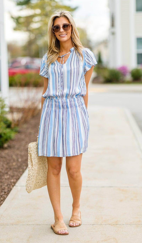 Morning Sun Dress, Blue