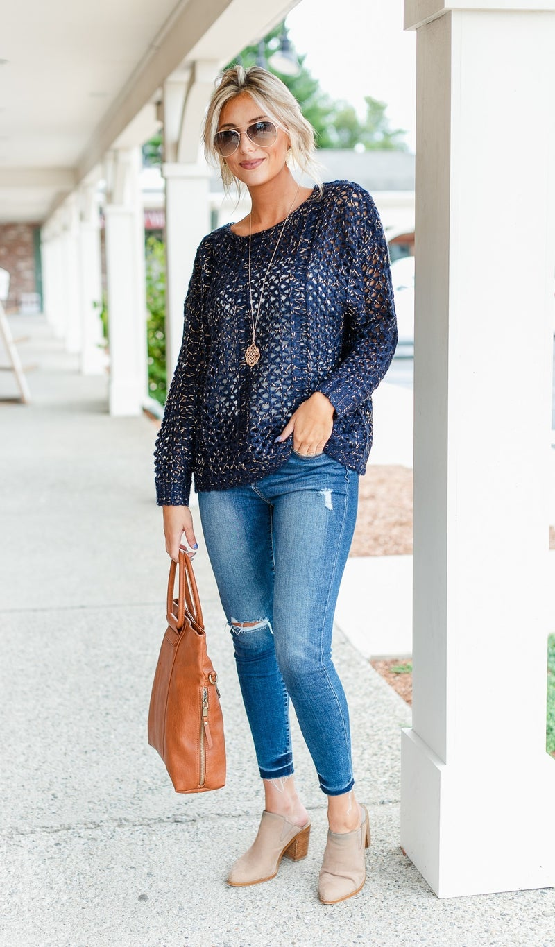 Best Life Knit Sweater, Taupe or Navy