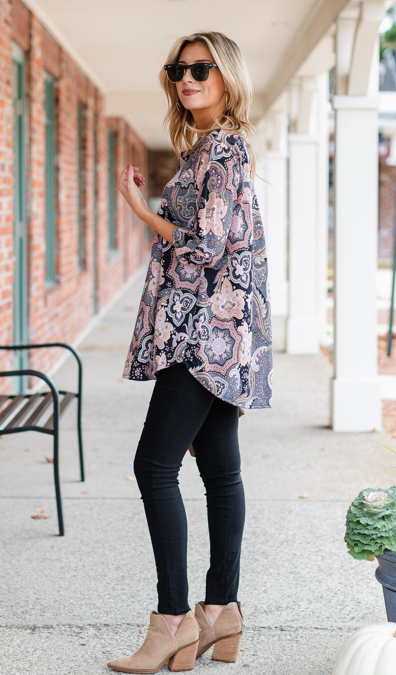 Sweeter Than You Know Tunic, Paisley