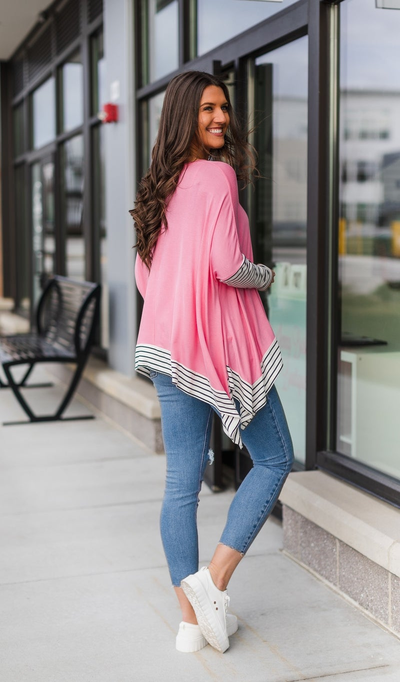 City Ready Top, Heathered Coral *Final Sale*
