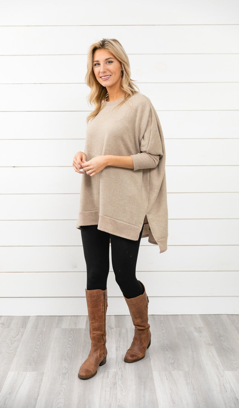 The Cassie Sweater, Taupe