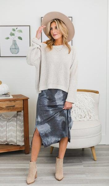 On Trend Tie-Dye Dress, Charcoal