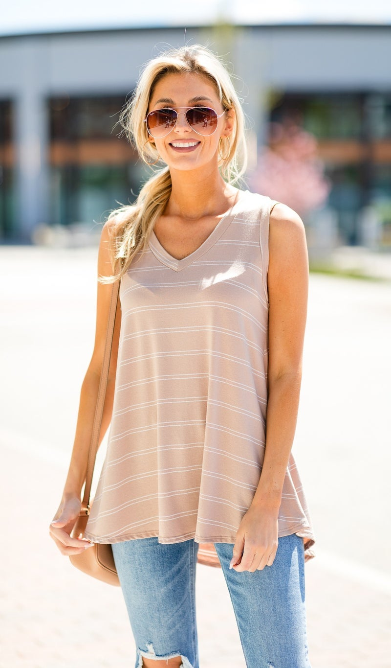 First Choice Tank, Beige or Pink