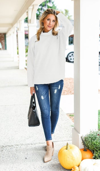 Cozy At Home Sweater, Ivory