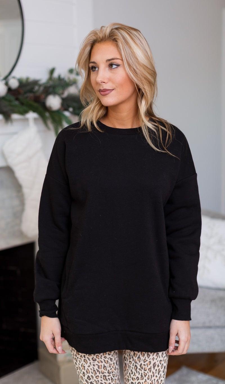 Forever Charm Sweatshirt, Black or Bone *Final Sale*