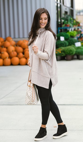 Fall Feels Top, Taupe