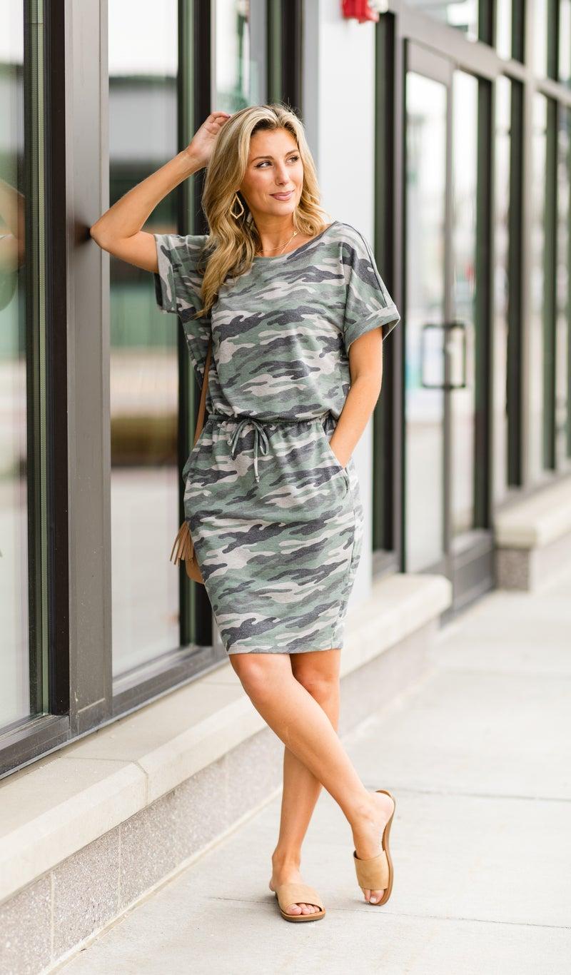 On The Run Camo Dress