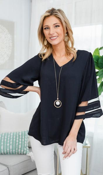 Picture Perfect Blouse, Black