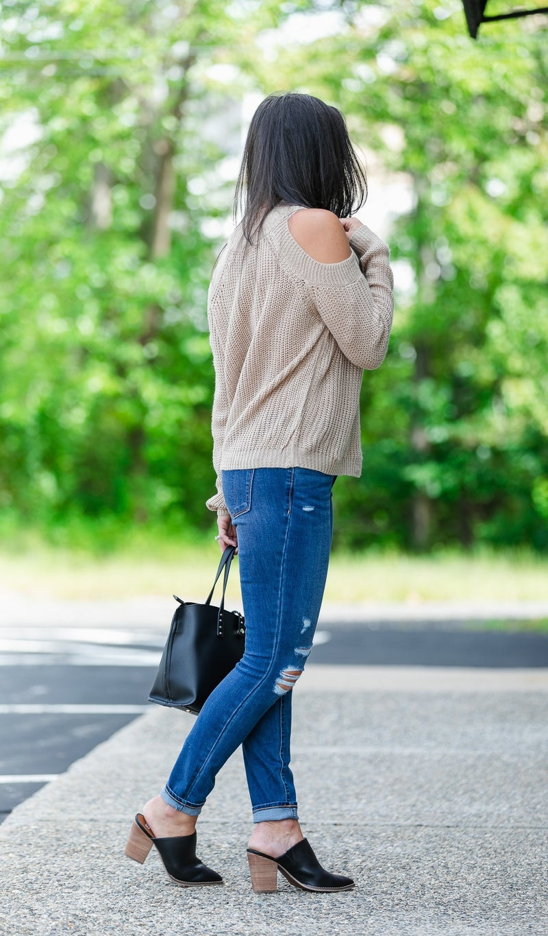 Can't Waist Knit Sweater, Taupe