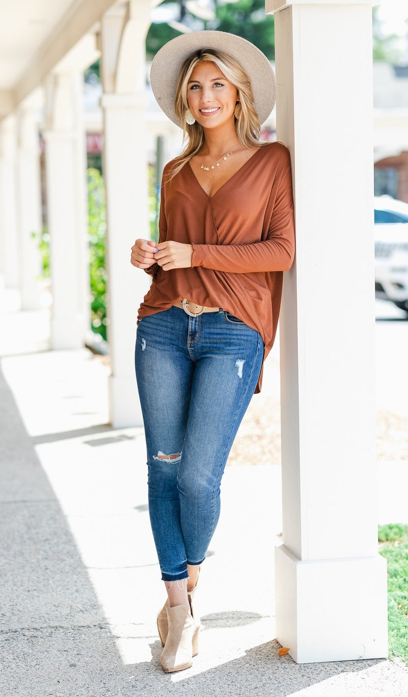 That's A Wrap Top, Rust or Blue