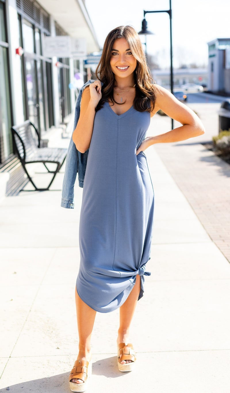 Summer Loving Dress, Slate