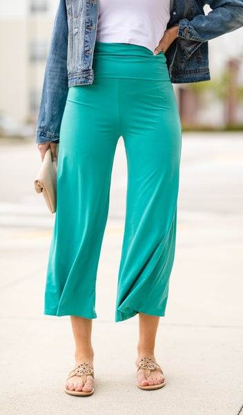 Vacation Pants in Black, Coral, Jade and Cobalt