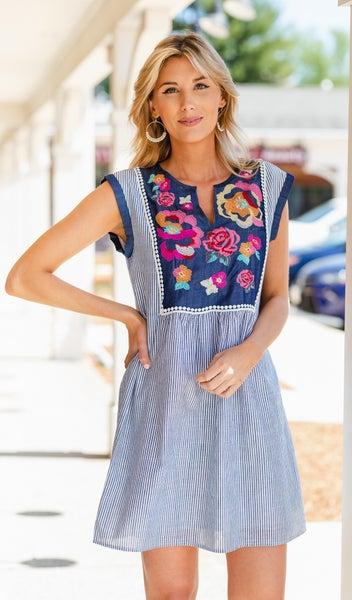 Cool Breeze Dress, Denim