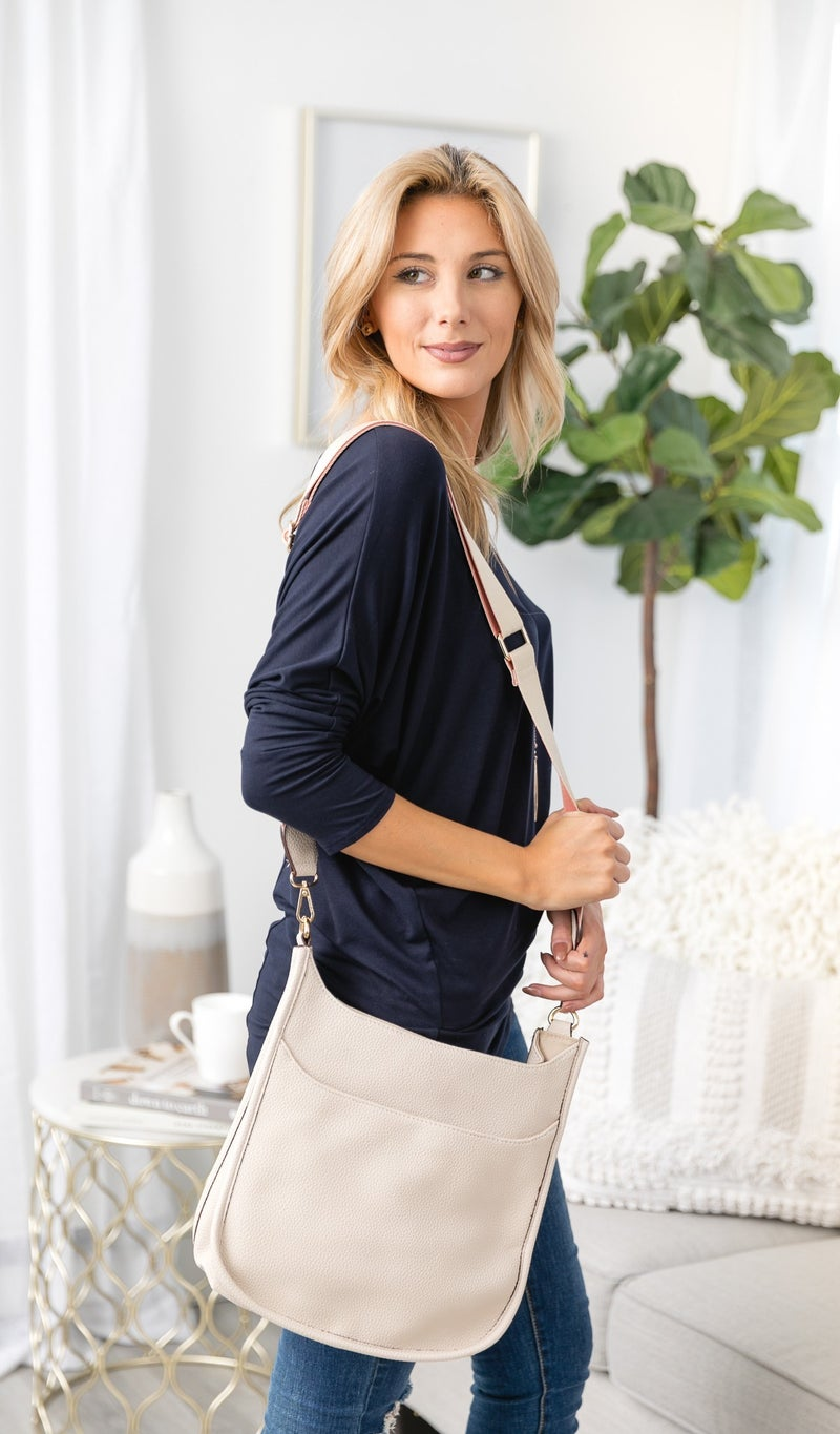The Perfect Cross Body, Navy , Grey, or Ivory