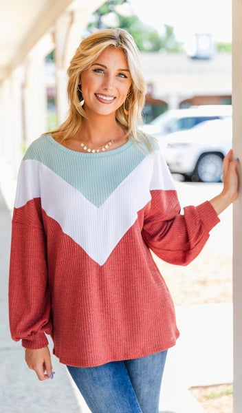 Truly Trendy Top, Rust, Mint or Charcoal