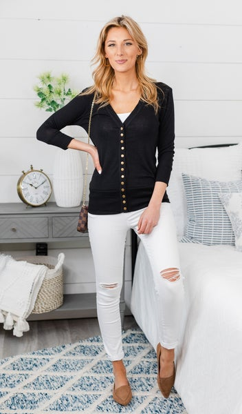 Here To Stay Cardigan, Black