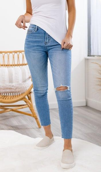 Clean High Rise Crop Skinny Jean, Medium Wash