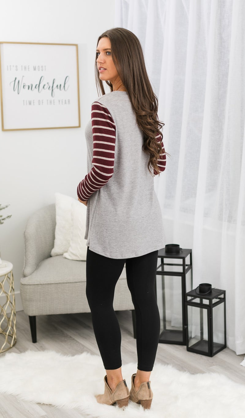 Oh-So-Soft Top/Tunic, Grey