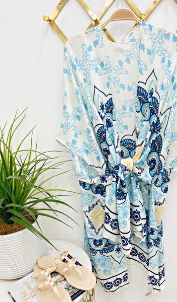 The Lori Kimono, Turquoise