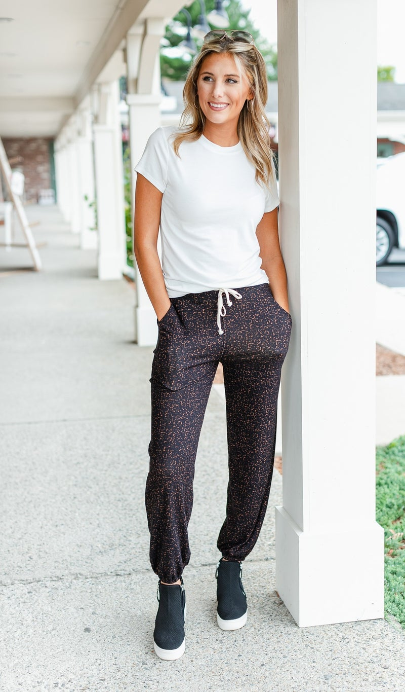 For You Knit Joggers, Black or Mocha