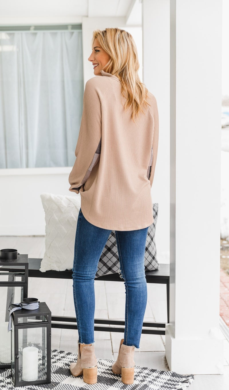 Vail Days Top, Taupe *Final Sale*