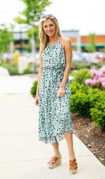 The Everly Dress, Green