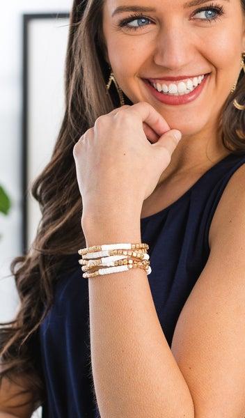 Sunsets Bracelet Stack, Gold