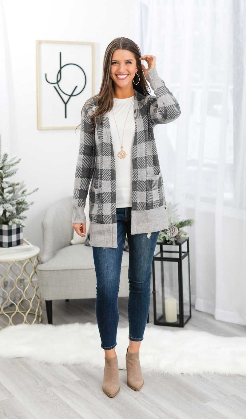 The Rhea Cardigan, Grey
