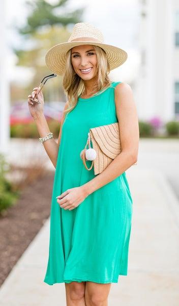 The Brianna Dress, Kelly Green