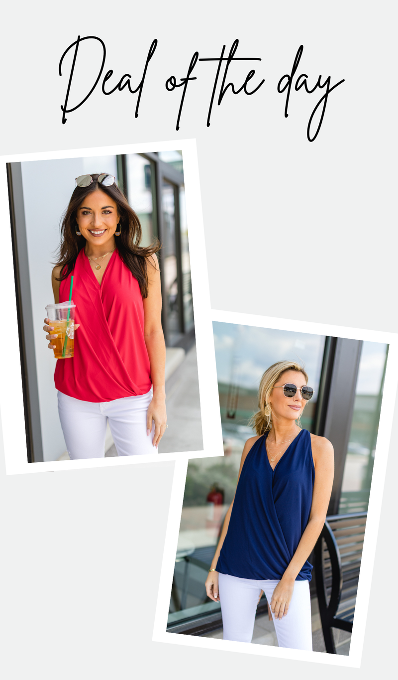 Golden Hour Tank, Ruby or Navy