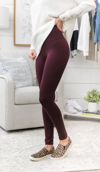 Premier Fleece Lined Leggings, Olive, Burgundy, Navy or Black, grey