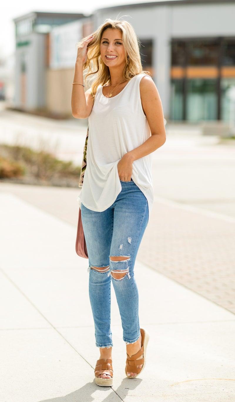 Beautiful You Jeans, Cuffed Crop Skinny