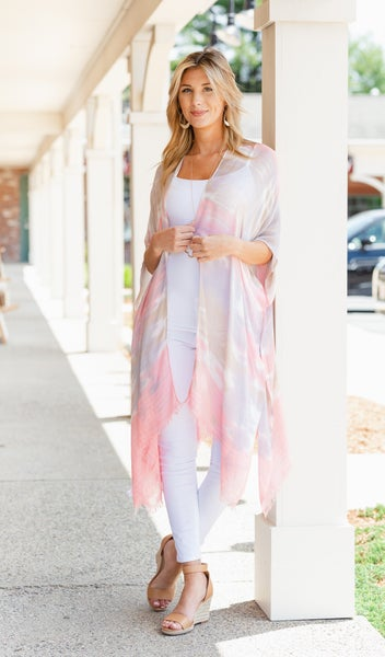 Ride The Waves Kimono, Blush