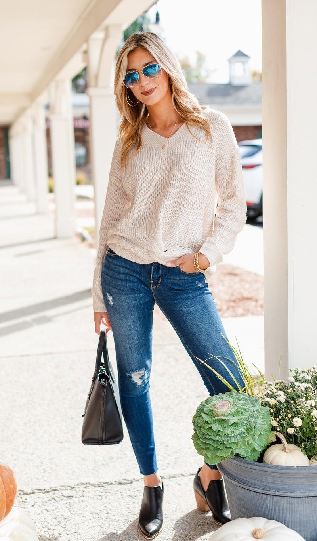 The Julianne Sweater, Ivory
