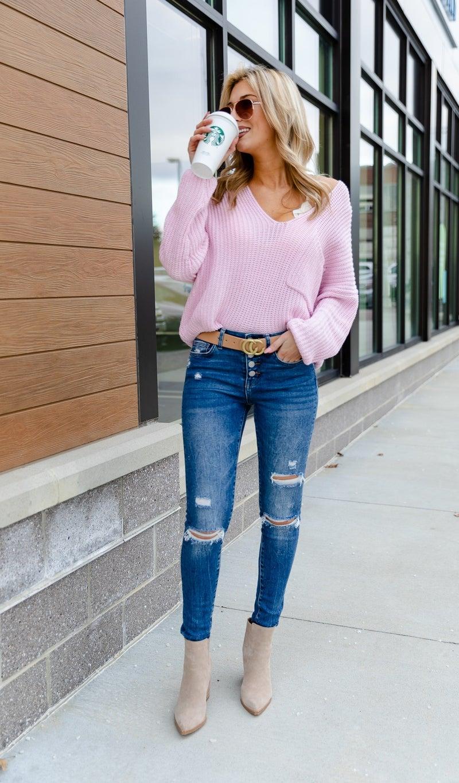 The Savannah Sweater, Pink