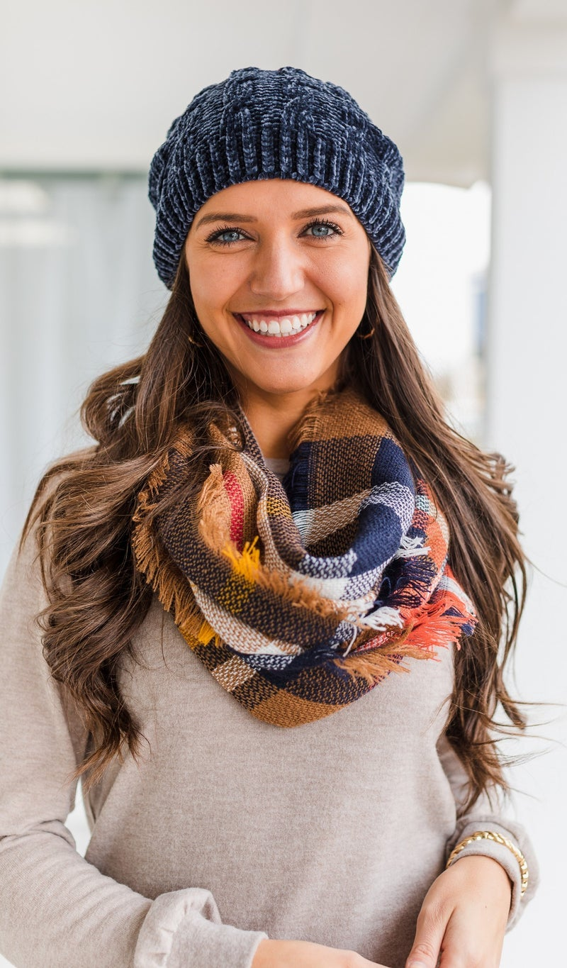 More Than Ever Plaid Scarf, Camel *Final Sale*