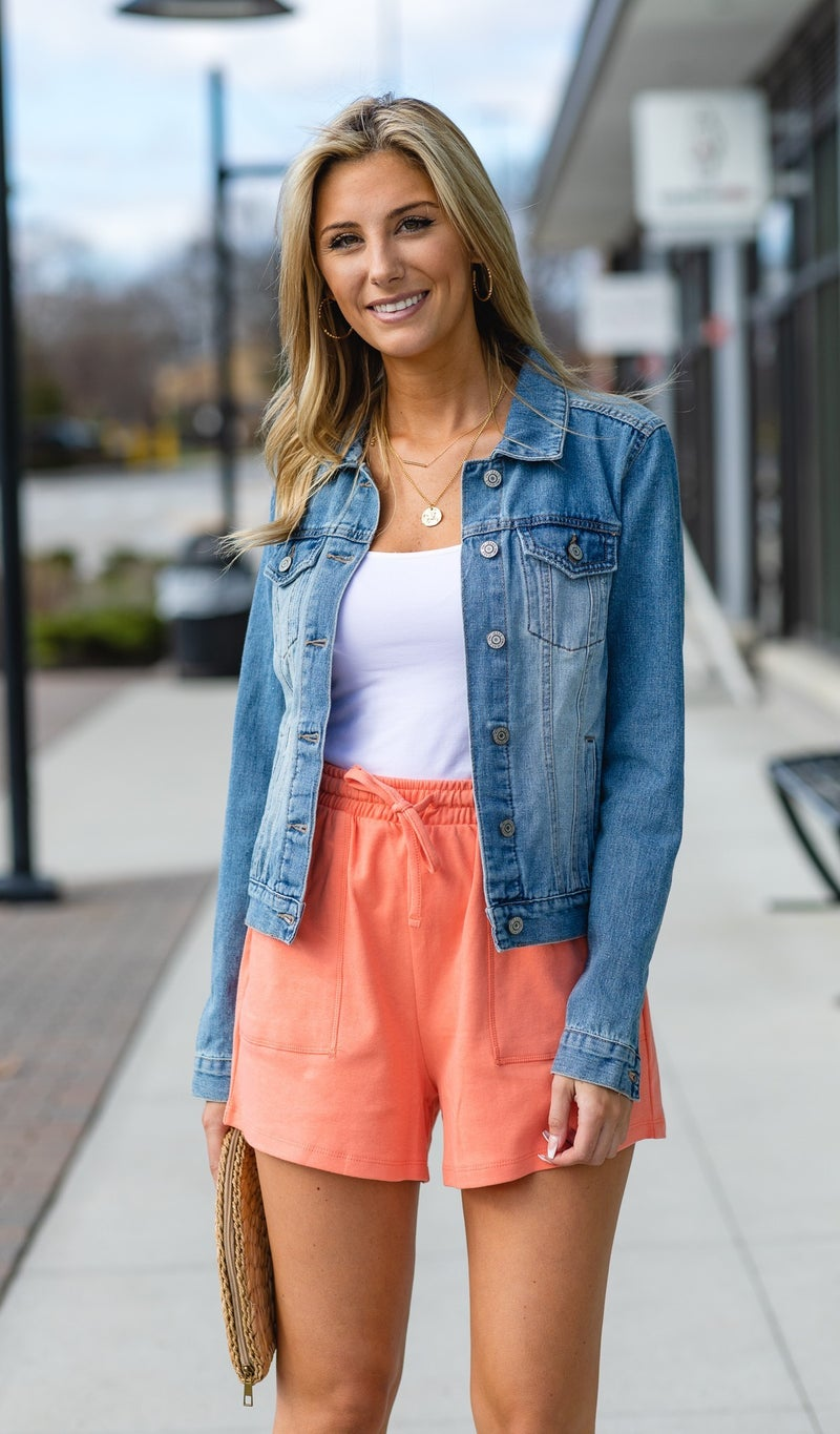 Cozy Day Shorts, Black, Teal, Coral, Pink, Fuchsia, Grey, Mint, Navy, Blue or Peacock