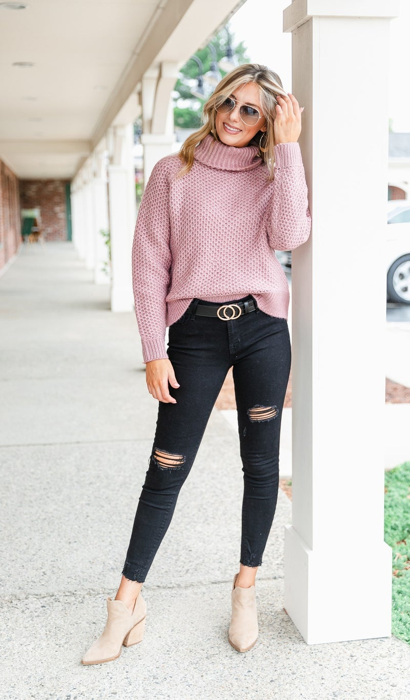 Loving Chunky Knit Sweater, Grey, Rose, Teal or Olive