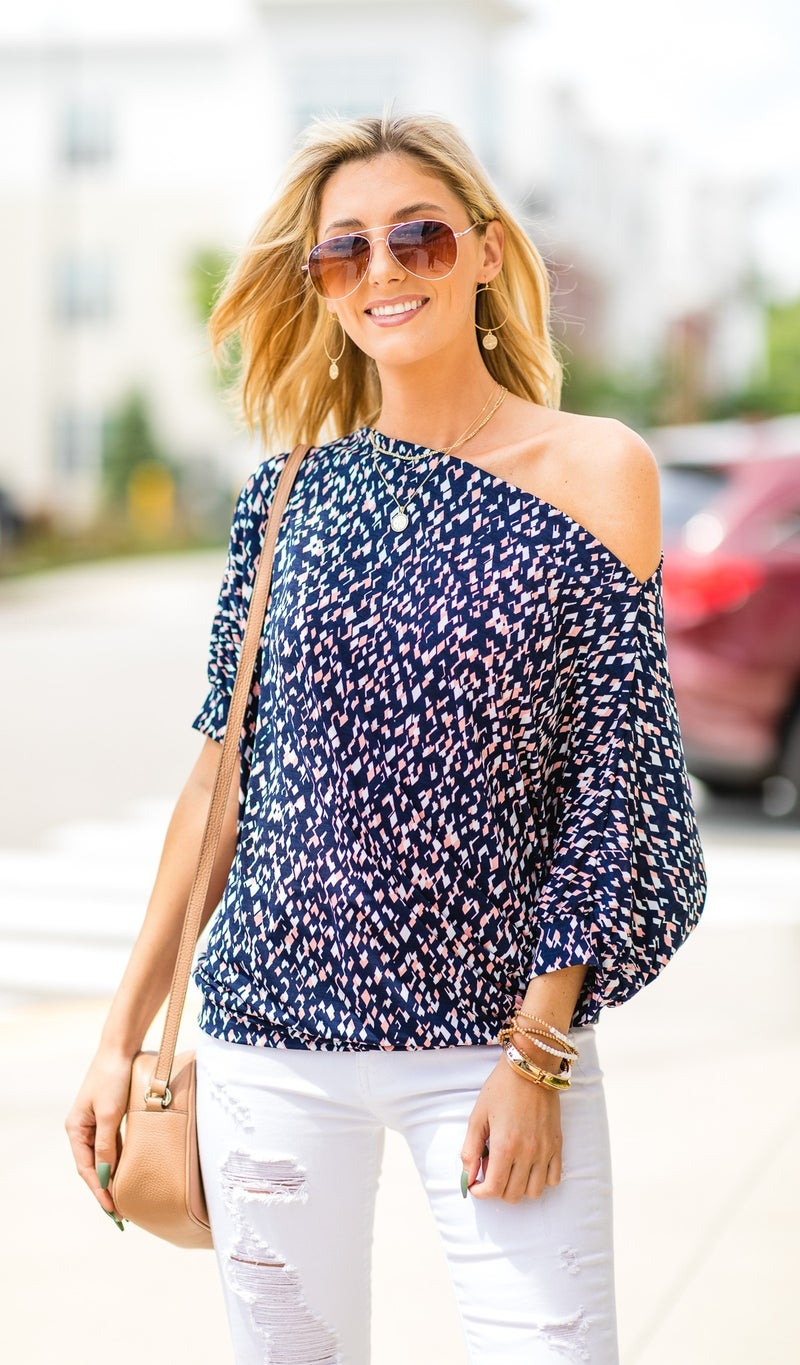 The Best Vacation Collection Top, Navy