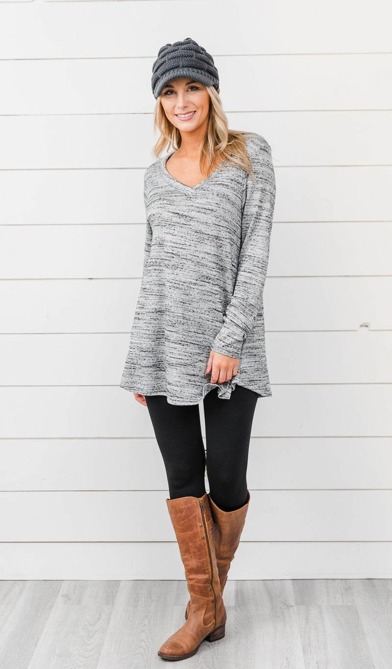 The Staple Long Sleeve, Grey
