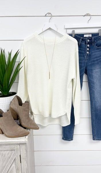 The Kayla Sweater, Ivory