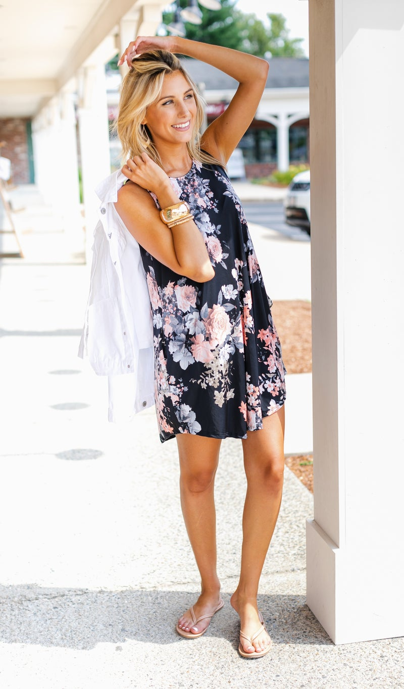 Floral Dreaming Dress, Black