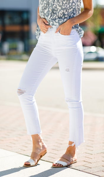 All I Know Jeans, White