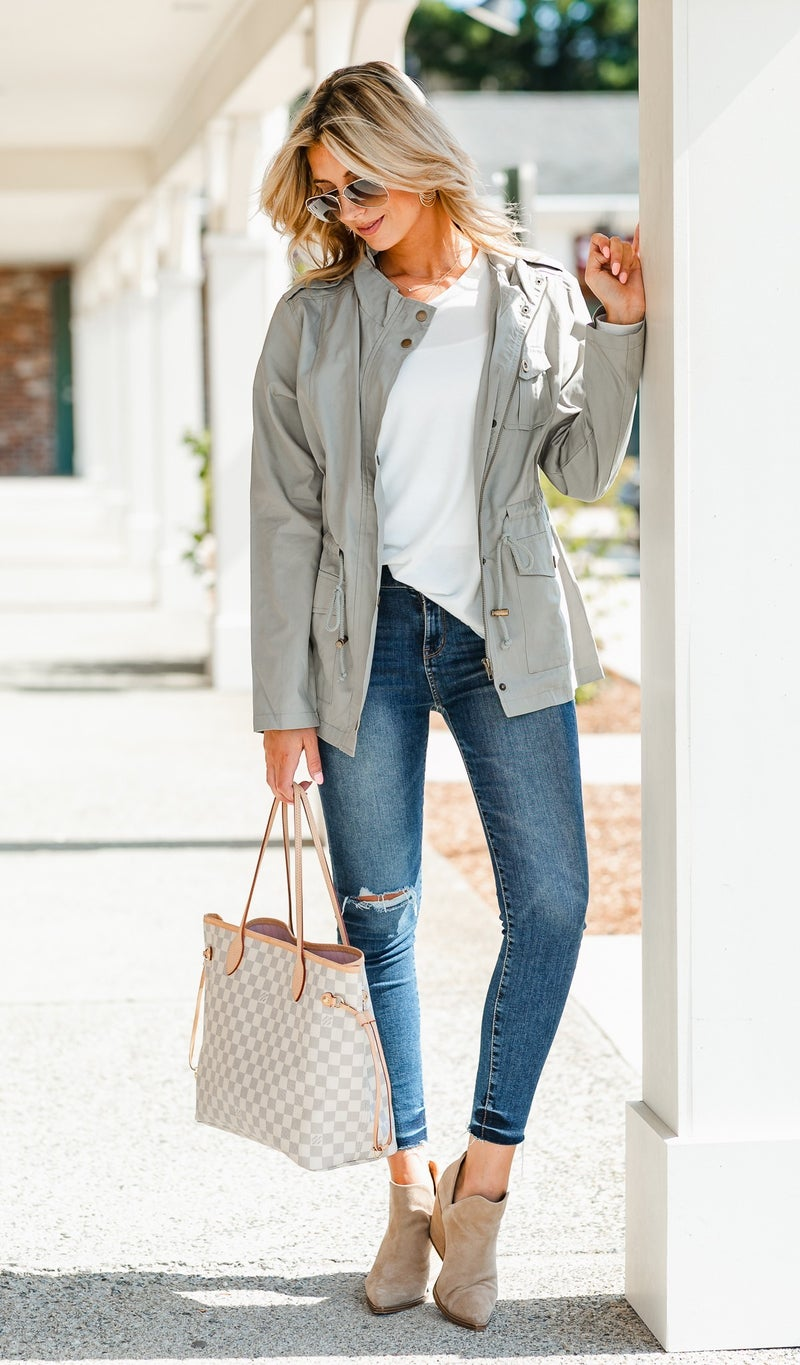 The Ultimate Fall Jacket, Sage